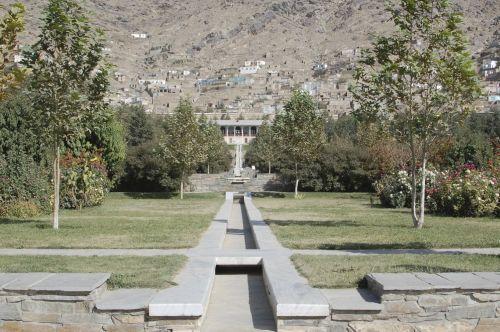 Gambar Taman Babur di Afghanistan