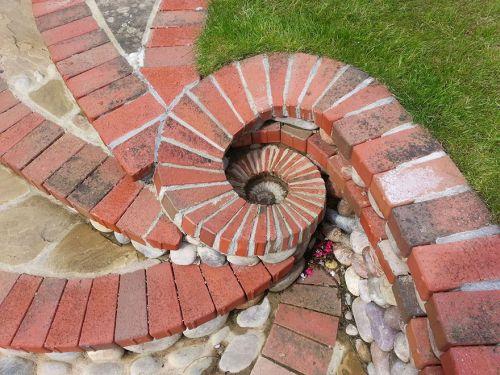 Desain Batu dan Bata Mozaik dan Spiral 3