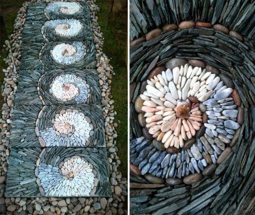 Desain Batu dan Bata Mozaik dan Spiral 6