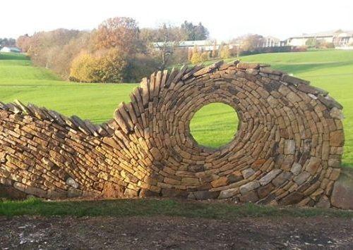 Desain Batu dan Bata Mozaik dan Spiral