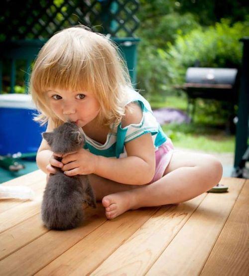 Foto Tentang Persahabatan Anak dan Hewan Peliharaan 19