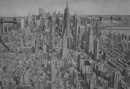 Gambar Ilustrasi Imajinasi Kota Amerika