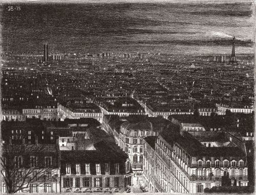 Gambar Ilustrasi Malam di Paris