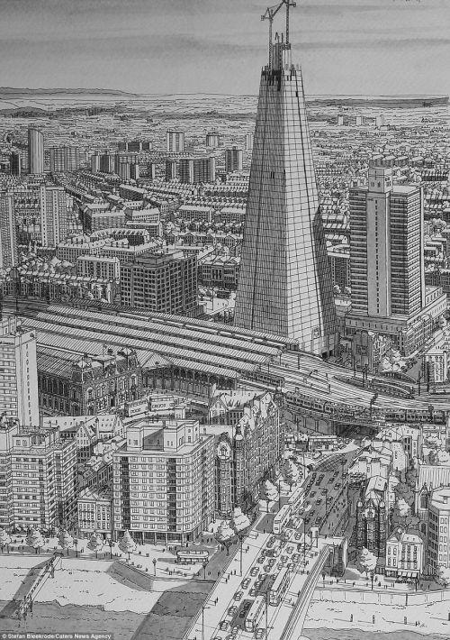 Gambar Ilustrasi Menara Shard di Samping Sungai Thames
