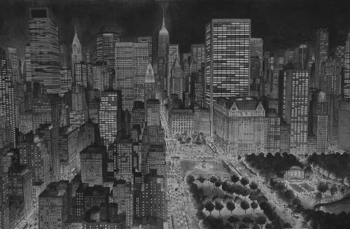 Gambar Ilustrasi New York City di Malam Hari