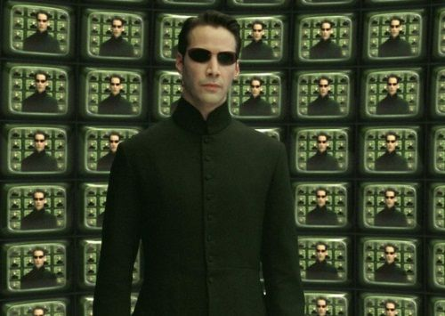 Foto Keanu Reeves Matrix Reloaded2